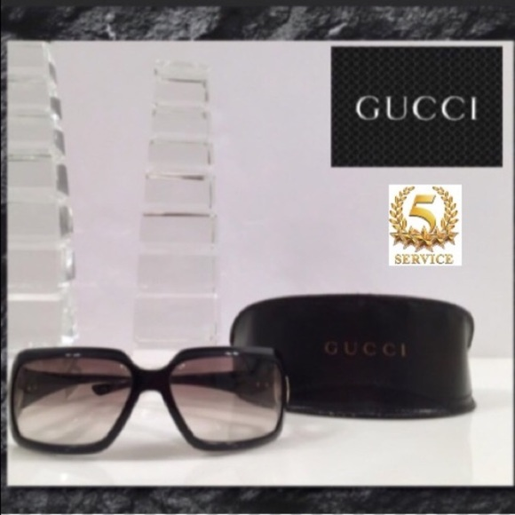 Accessories - BLACK GUCCI SUNGLASSES